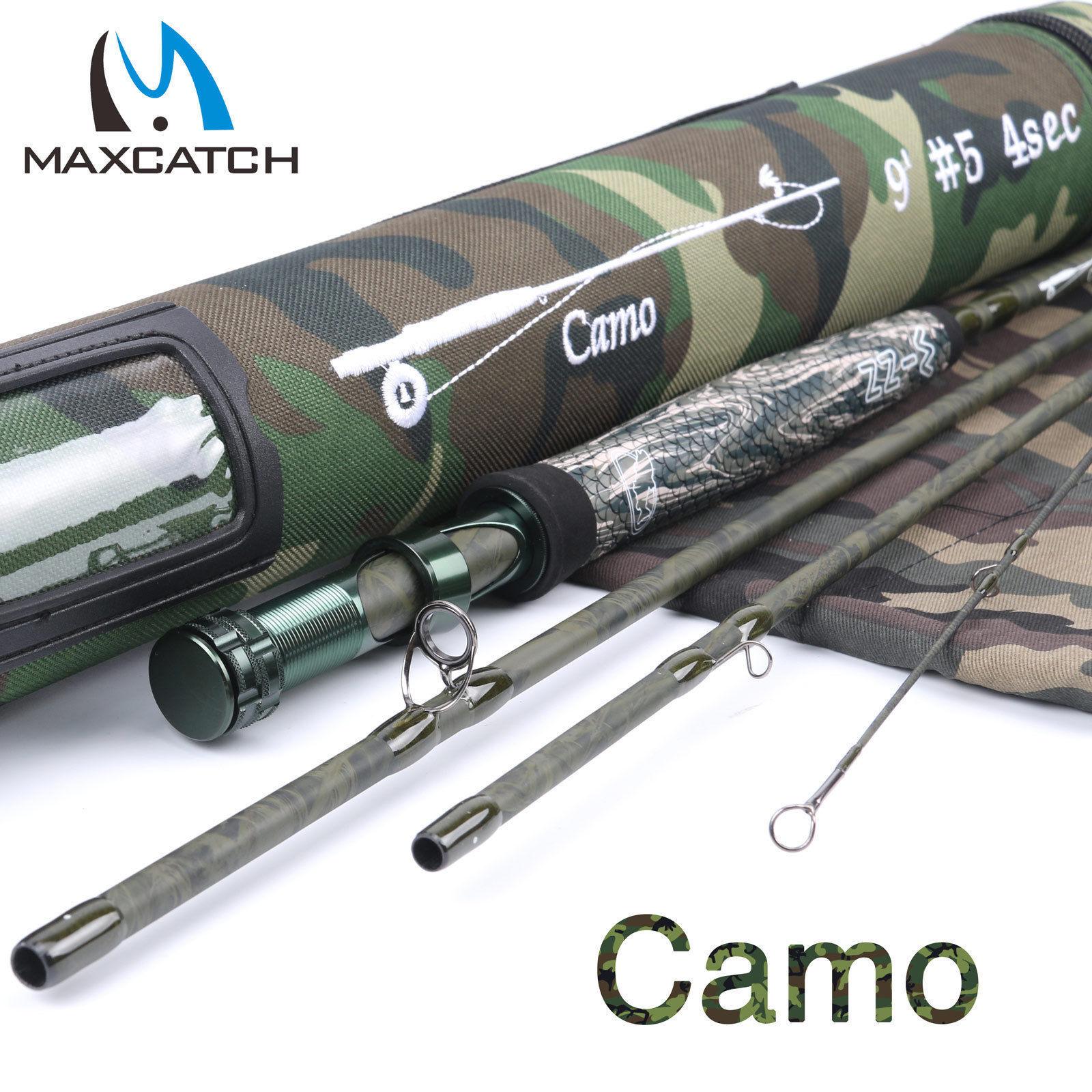 Maxcatch Camo Fly Fishing Rod 9ft 5WT Graphite Camo Blank + Cordura Rod Tube