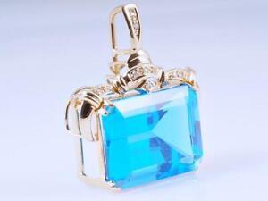 Anhaenger-30-05-Karat-Diamanten-Topas-585-Gold-14-Karat-um-1990