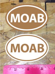 2 for 1 bonus MOAB Utah Off Road UHV Mountain Bike sticker decal DIRT Brown