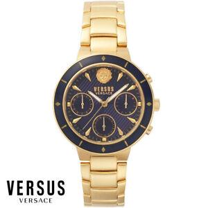 Versus-by-Versace-VSP880718-Harbour-Heights-gold-Edelstahl-Armband-Uhr-Damen-NEU