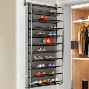 Details About Over Door Hanging Shoe Rack 10 Tier Shoes Organizer Wall Mounted By