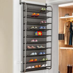 Door Hanging Shoe Rack.Details About Over Door Hanging Shoe Rack 10 Tier Shoes Organizer Wall Mounted Shoe Hanging By
