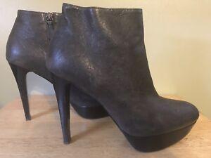 Stuart Weitzman Damenschuhe Stiefel 10.5 Größe 10.5 Stiefel M Leder Platform Ankle     96845f