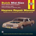 Buick Mid-size Rear Wheel Drive Models 1974-87 Owner's Workshop Manual by Peter Du Pre, J. H. Haynes (Paperback, 1983)