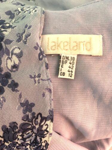 bleue Lakeland à Robe longue fleurs Long Boho Tall blanche et Lagenlook M 12 vtvaqwx5