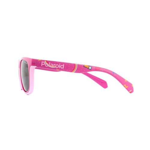 Polaroid Kids Sunglasses PLD 8035//S MU1 M9 Fuschia Grey Polarized