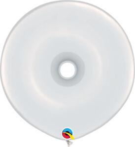 DONUT-BALLOONS-STANDARD-WHITE-25ct-QUALATEX-16-034-GEO-DONUT-MODELLING-BALLOONS