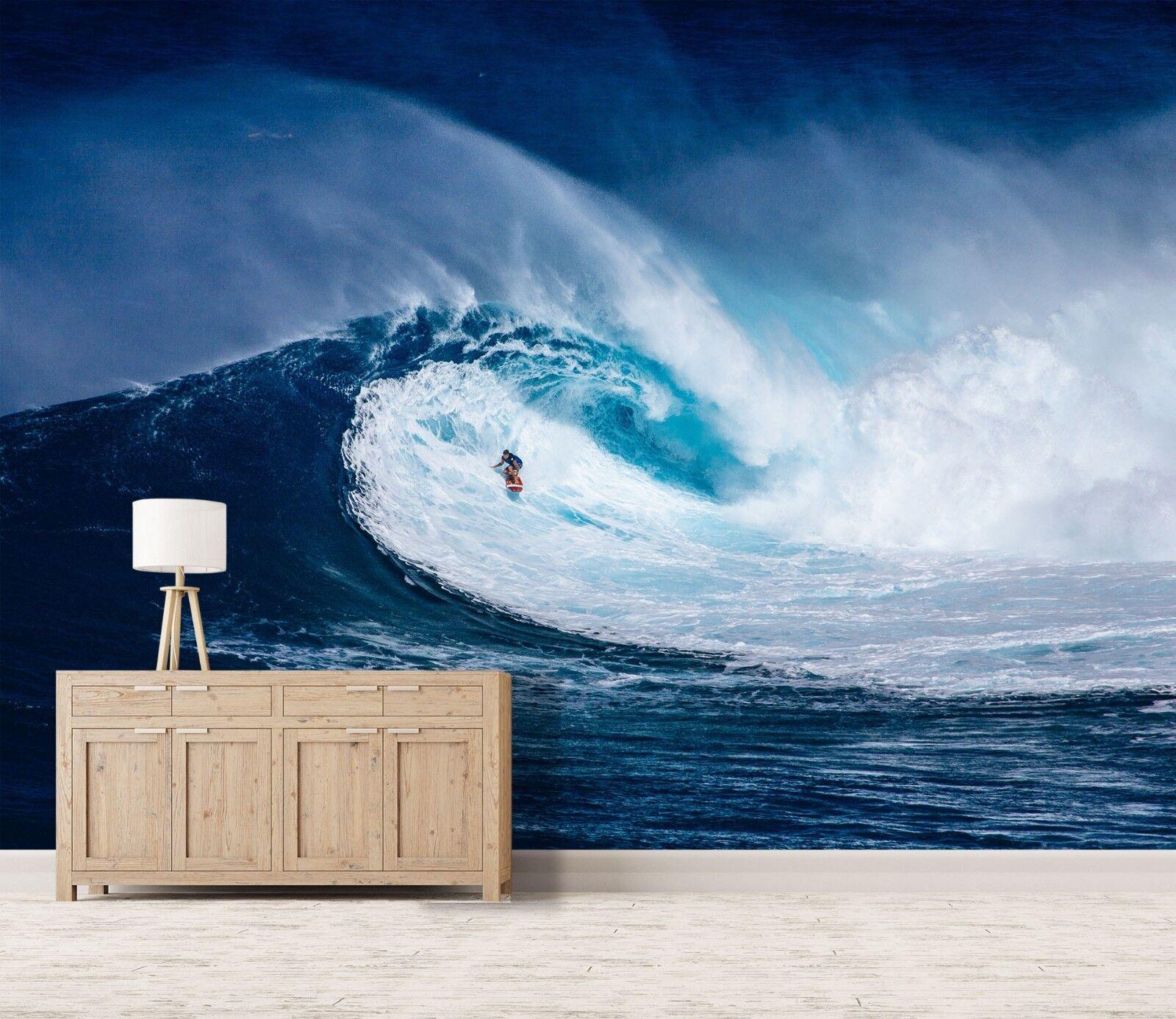 3D bluee Sea Waves 970 Wall Paper Murals Wall Print Wall Wallpaper Mural AU