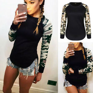 Fashion-Womens-Summer-Casual-Long-Sleeve-Tops-Shirt-Ladies-Loose-T-shirt-Blouse