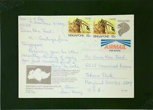 Singapore-1987-Postcard-to-USA-Z2027