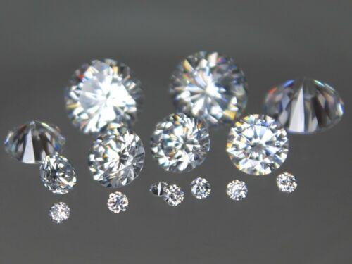 CZ Round Colorless 2mm 4mm 6mm 8mm 10mm Loose AAA Cubic Zirconia Gemstone White