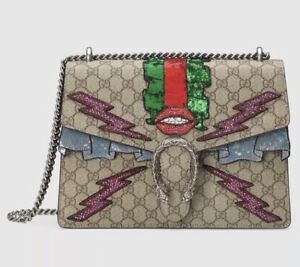 8cf6f75c409 Image is loading Brand-New-Authentic-GUCCI-Dionysus-GG-Supreme-embroidered-