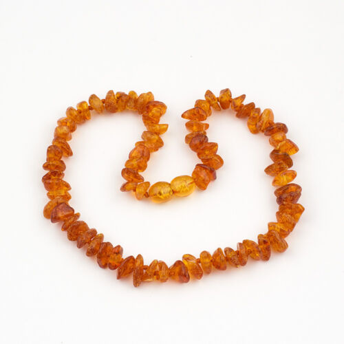 Natural Baltic Amber baby Kid Collier avec poli Chips Perles-Couleur choisie