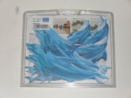 25 dauphins en papier peint lavable en vinyle préencollé 18X4cm taille