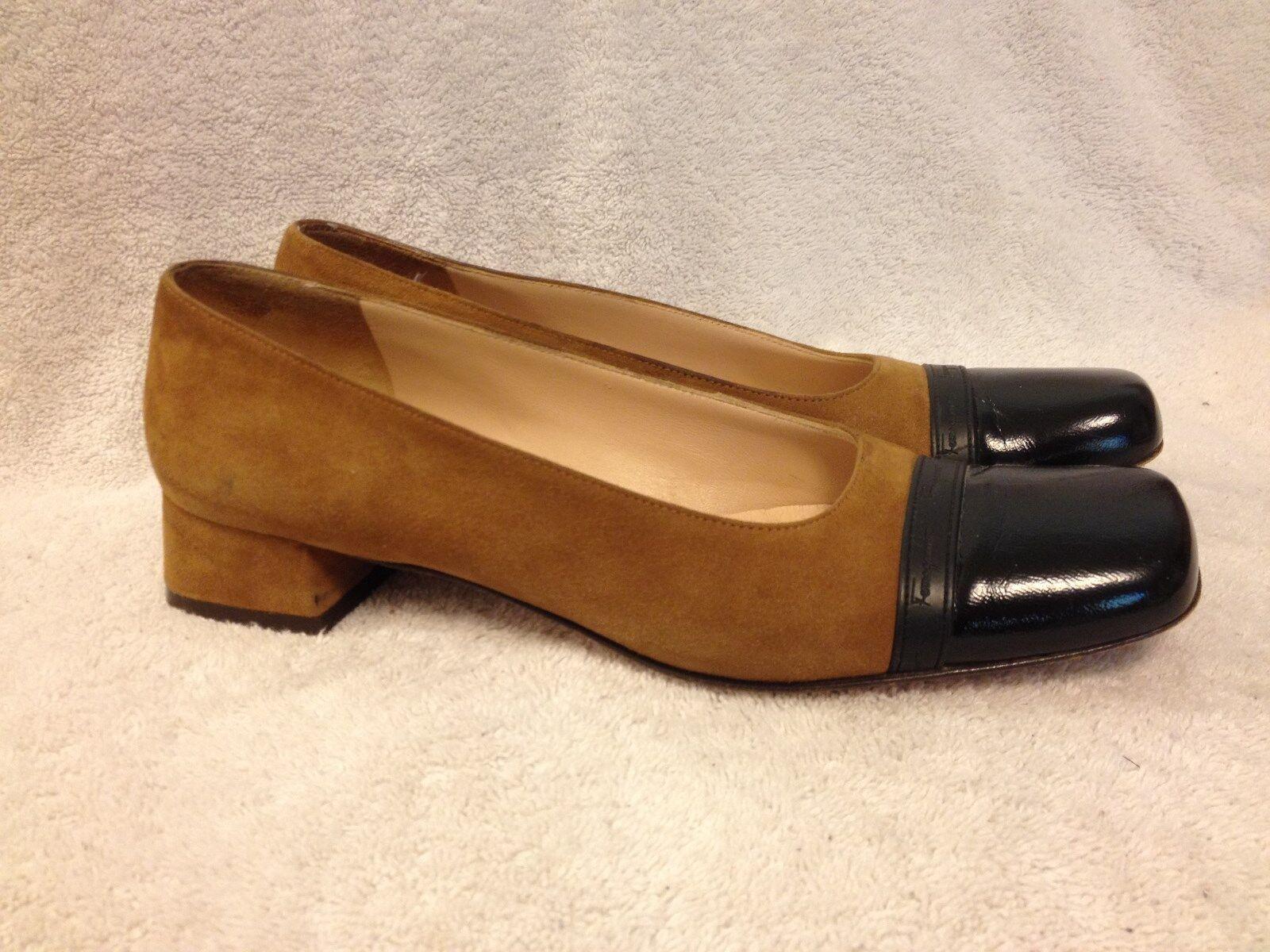 Salvatore Ferragamo boutique suede heels slip on shoes ladies size 8 4A  Nice