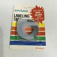 """Lot of 10 Cartridges In A Box Black Dymo Labeling Tape 7291-09 3//8/"""" NOS"""