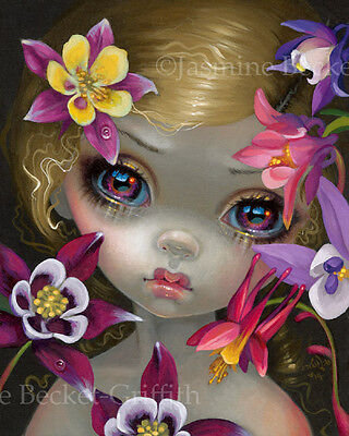 Jasmine Becket-Griffith art print SIGNED Poisonous Beauties XIII: Columbine