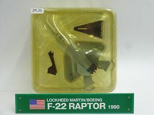 Del-prado-Lockheed-F22-Raptor-1-145-escala-Diecast-aviones-de-guerra-pantalla-2PL35