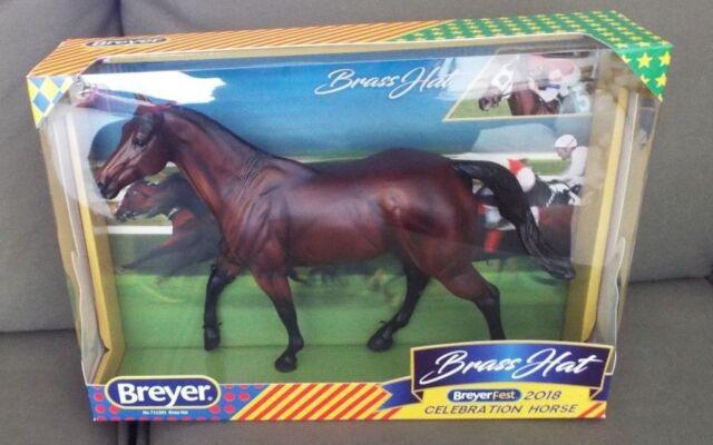 Breyerfest Breyer Brass Hat 2018 Celebration race horse