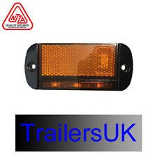 LED AUTOLAMPS 44 AME 12//24V LED SIDE AMBER MARKER LAMP WITH REFLEX REFLECTOR
