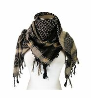 Tapp Collections Premium Shemagh Head Neck Scarf Black/camel Free Shipping