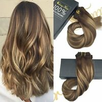 thick delux 10 613 balayage ombre clip in remy human hair