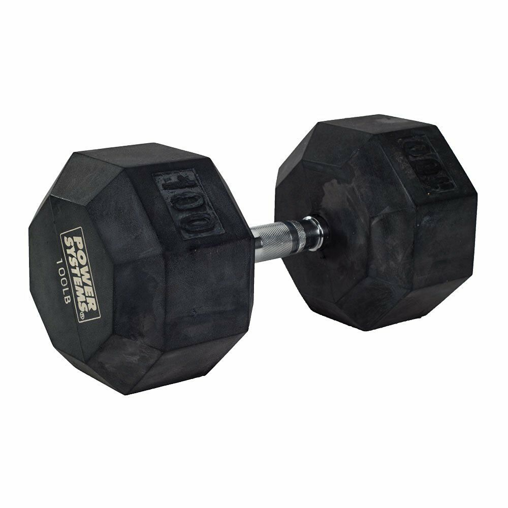 Power Systems  Rubber Octagonal Dumbbell (85-Pounds)  high-quality merchandise and convenient, honest service