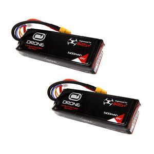3dr-Iris-3s-5100mah-11-1v-RC-Lipo-Drone-Akku-mit-xt60-Plug-x2-Packs-von-Venom