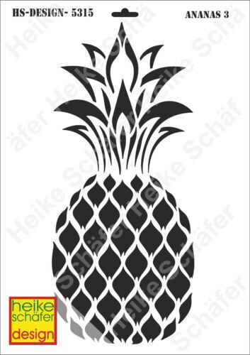 Pochoir-Stencil a3 130-5315 Ananas-NEUF-Heike Schäfer Design