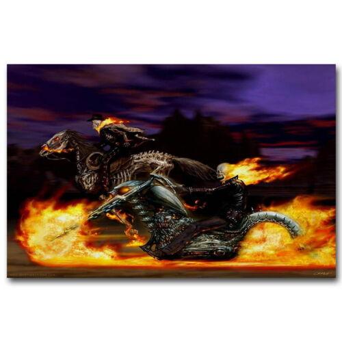 136602 Ghost Rider Spirit Of Vengeance Anime Wall Print Poster Plakat