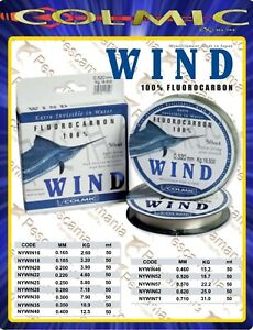 Colmic-WIND-Fluorcarbon-100-0-165-gt-0-71-finali-pesca-in-mare-mt-50