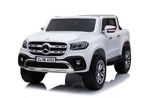 AUTO-MACCHINA-ELETTRICA-PER-BAMBINI-Mercedes-XClass-2-POSTI-CON-TV-TOUCH