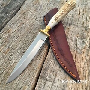 STEEL-STAG-Genuine-Deer-Stag-Skinner-Hunting-Knife-NEW-W-Leather-Sheath-SS-7016