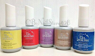 IBD Just Gel Polish-Set of any 5 bottles .5oz- Choose From Base/Top/Colors/Bond