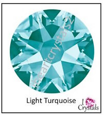 LIGHT TURQUOISE 7ss 2mm 144 pieces SWAROVSKI Crystal Flatback Rhinestones 2058