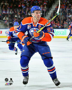 watch da422 f917b Details about Connor McDavid CAPTAIN ACTION Edmonton Oilers Premium 16x20  POSTER PRINT