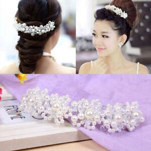 Bridal-Wedding-Headband-Crystal-Flower-Tiara-Crown-Rhinestone-Hair-Band