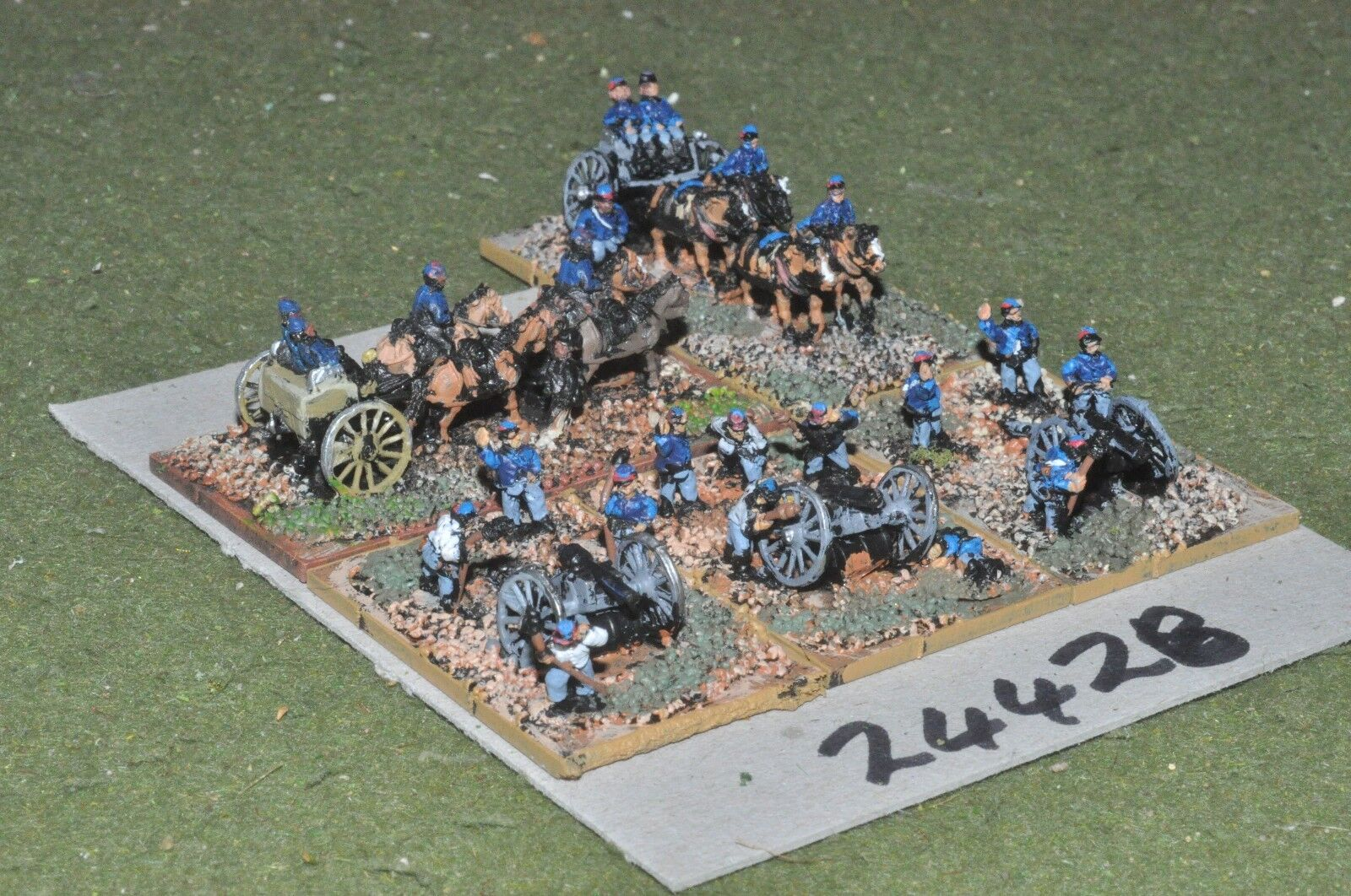 10mm ACW   union - 3 guns & crews - art (24428)