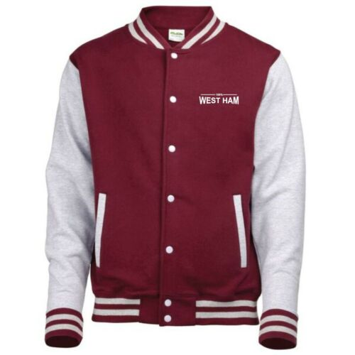 100% West Ham Fan Varsity Jacket Mens