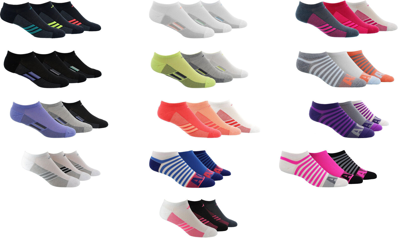 Show Socks 6 Pairs Assorted Colors