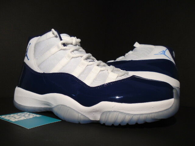 Nike Air Jordan XI 11 Retro WIN LIKE 82 OG WHITE UNIVERSITY BLUE 378037-123 10.5