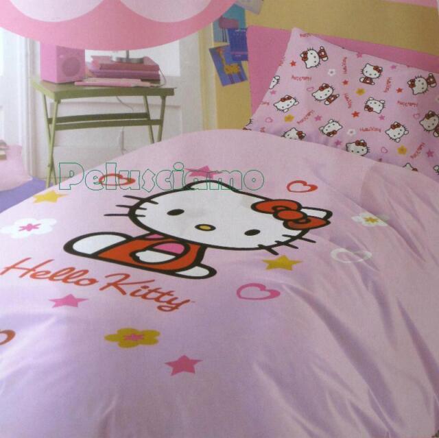 Completo Letto Singolo Hello Kitty Stelle 1 piazza cartoni animati *11660 |  eBay
