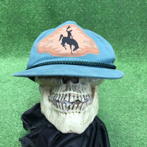 Vintage Wyoming Bronco Rodeo Cowboy Snapback Hat C