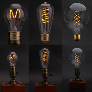 dimmable edison glass led bulb vintage industrial retro light lamp