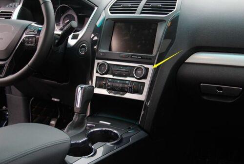 For Ford Explorer 2016-2017 Chrome Interior Dashboard Console Frame Cover Trim