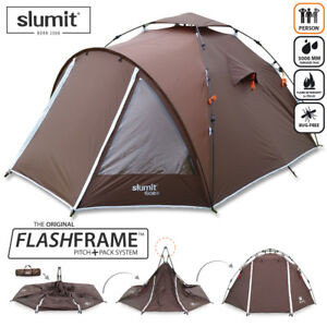 NEW QUICK PITCH 2 - 3 PERSON MAN BERTH POP UP CAMPING BIKER TENT INSTANT ERECT