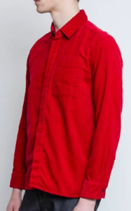 Albam-Cordwainers-Shirt-Mens-Red-Long-Sleeves-Buttons-UK-XL-REF153
