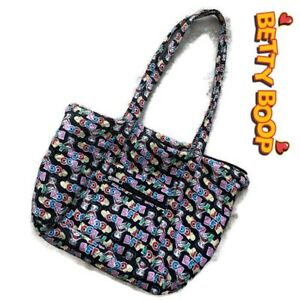 Details About Betty Boop Tote Bag Quilted Fabric Per Diaper Purse Handbag As Is