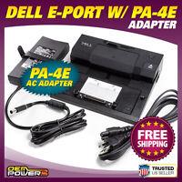 Dell E-Port Docking Station Replicator E6400 E6410 E6420 E6430 +PA-4E AC Adapter
