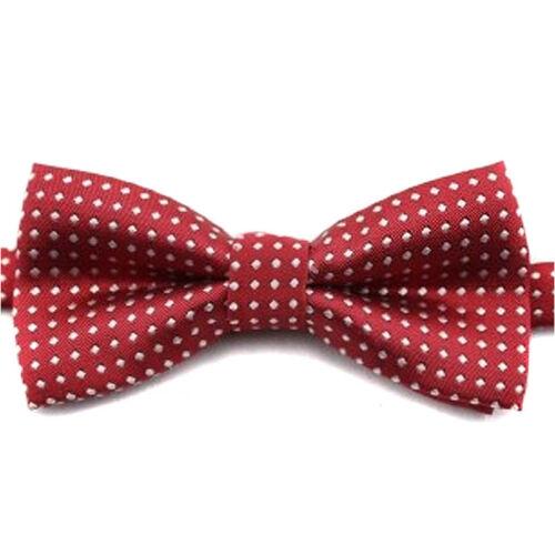 Fashion Children Cotton Butterfly Dot Print Bow Tie Kids Solid Boys Bowtie